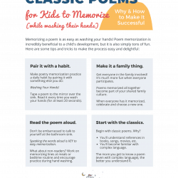 Classic Poems for Kids to Memorize Printable