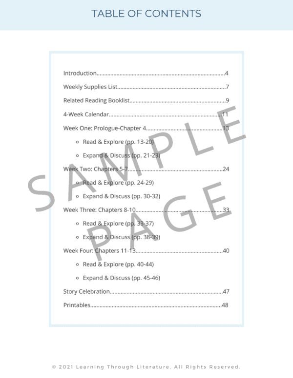 Esperanza Rising Book Guide Table of Contents