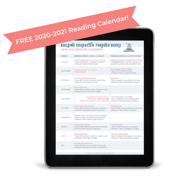 BCTB 2020-2021 Reading Calendar
