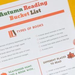 Autumn Reading Bucket List with FREE Printable