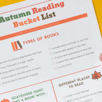 Autumn Reading Bucket List with FREE Printable