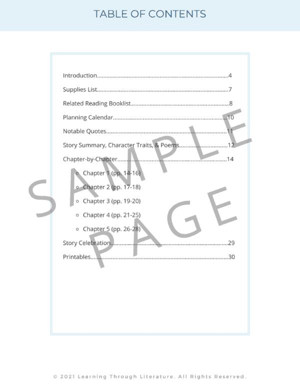Twenty & Ten Book Guide Table of Contents