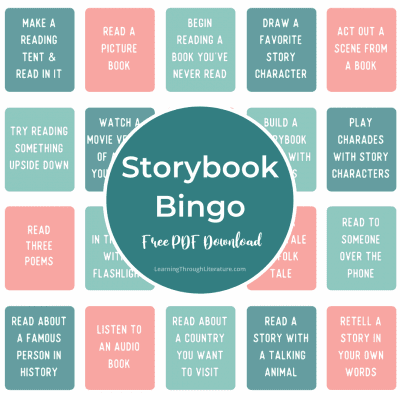 Reading-Inspired Indoor Activities + FREE Storybook Bingo