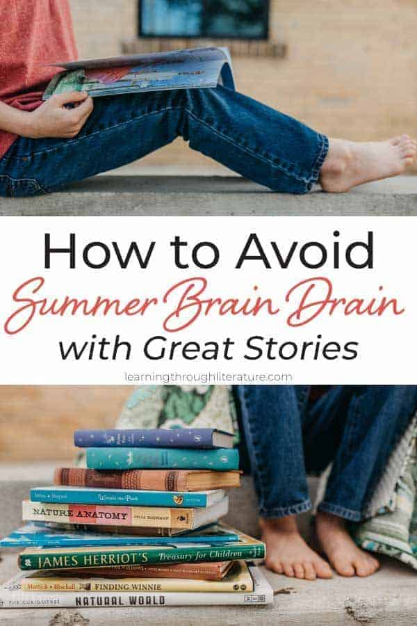 "Learn how to avoid Summer Brain Drain with Great Stories - even if your children learned from uninspiring textbooks all year long. Connecting that information to great stories will help them create emotional connections to what they might otherwise ""brain dump"" over the summer.#summerreadingforkids #avoidsummerbraindrain #summeractivitiesforkids #stopbraindrain"