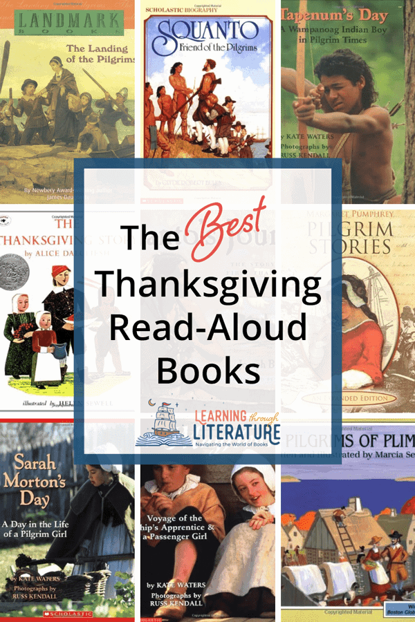These historical books about the First Thanksgiving will captivate your kids. They will get a real picture of the life of the Pilgrims on the Mayflower and at Plymouth Plantation. #thanksgivingbooksforkids #kidlit #childrensbooks #picturebooks #pilgrimbooks #mayflowerbooks #nativeamericanbooks #pilgrimsplymouth #classicalconversations #homeschooling #livingbooks  #bestchildrensbooks #learningthroughliterature