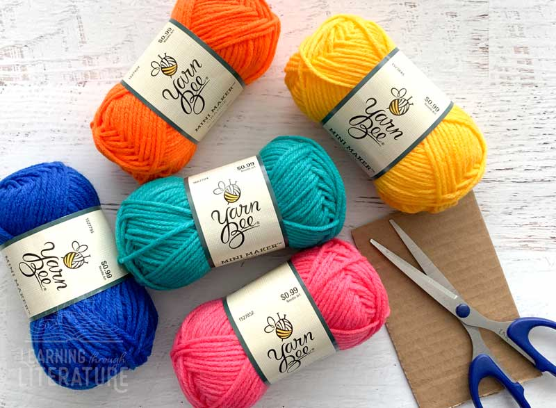 How to Make a Yarn Doll supplies