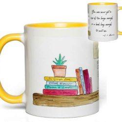 Bookshelf Quote Mug (C. S. Lewis)