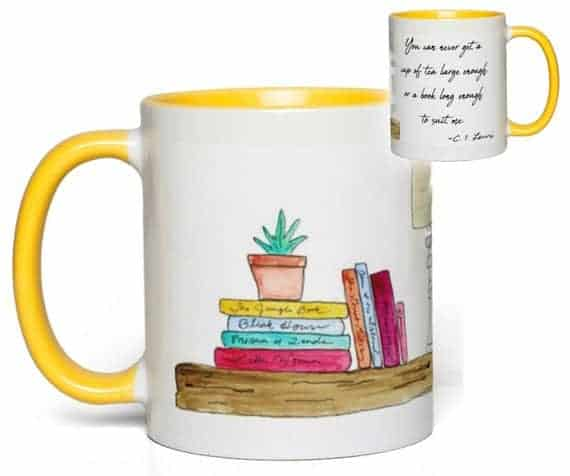 Bookshelf Quote Mug (C. S. Lewis)